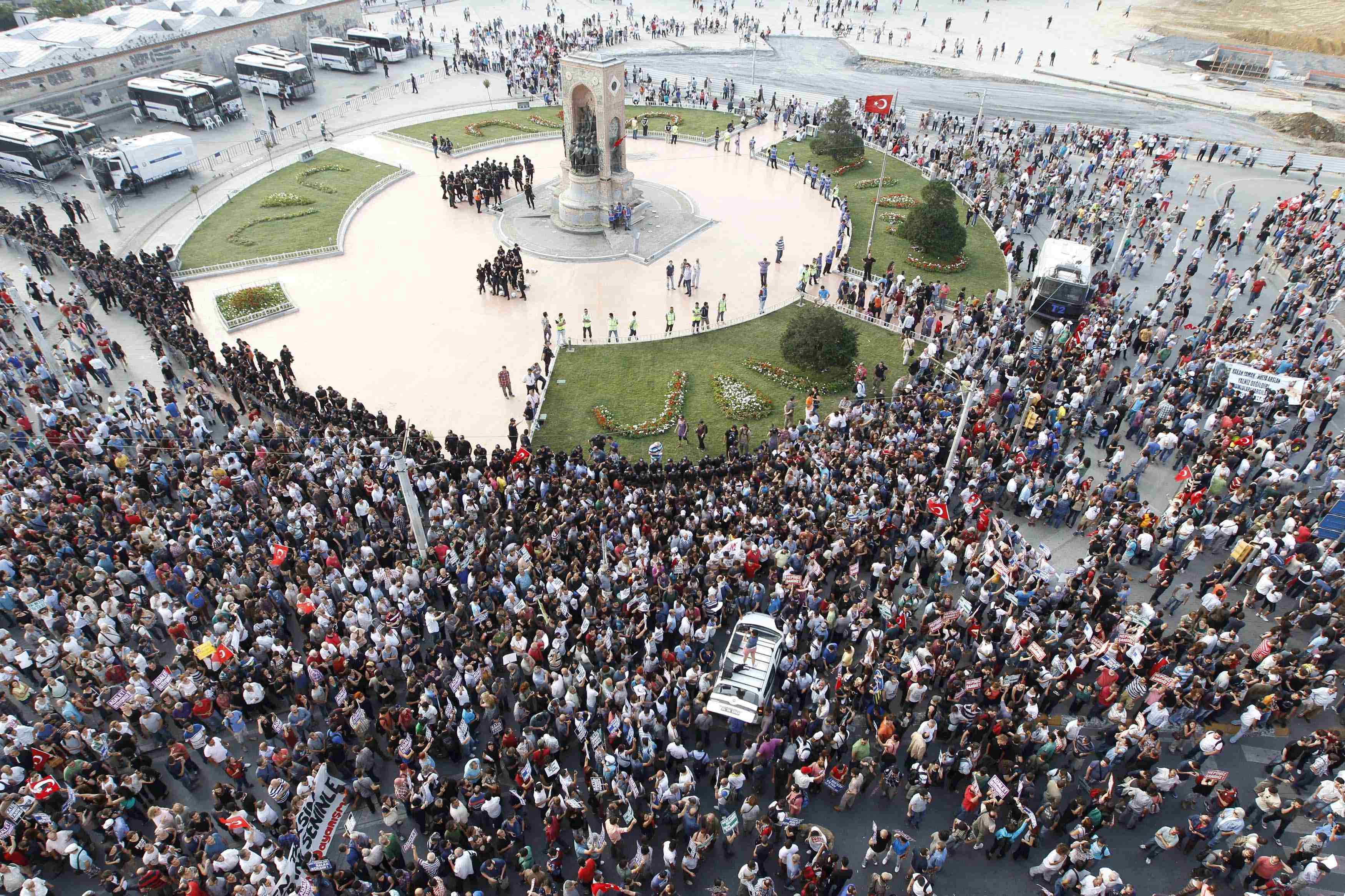ساحة تقسيم في اسطنبول، تركيا،